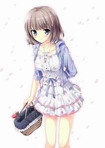 ANIME ART clothes. . .cute fashion. . .floral dress ...