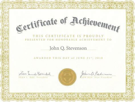 Certificate Template Army Certificate Of Achievement Template Exle Mughals