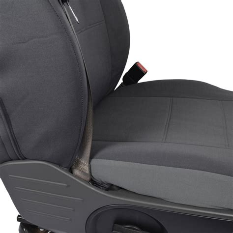 Front Pair  Custom Charcoal Gray Cloth Seat Covers For