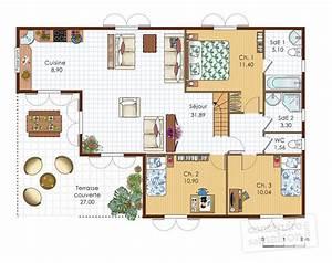villa antillaise detail du plan de villa antillaise With delightful faire un plan maison 2 maison de ville detail du plan de maison de ville