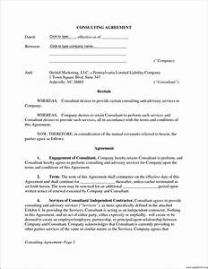 luxury sample consultant agreement template pictures With it consultant contract template