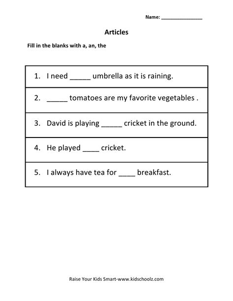grade 2 articles worksheet worksheets for 3