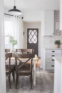 farmhouse kitchen makeover reveal love grows wild With kitchen colors with white cabinets with indiana university wall art