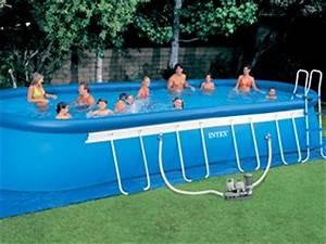 Kit Entretien Piscine Gonflable : kit piscine hors sol autoportante intex ellipse luxe ovale x x sur ~ Voncanada.com Idées de Décoration