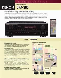 Denon Dra 395 Dra395e3 User Manual To The B1884e95 D692