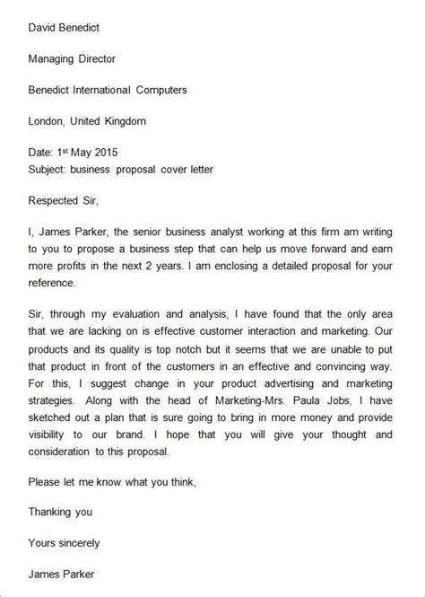 sample business proposal cover letter proposal letter