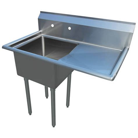 Stainless Steel Utility Sink With Right Drainboard by Sauber 1 Compartment Stainless Steel Sink With 18