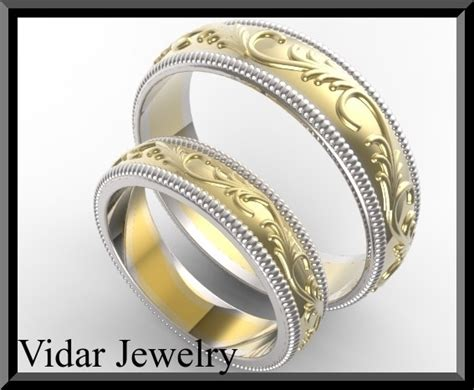 custom  wedding ring set vidar jewelry unique