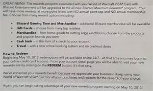 world of warcraft rewards visa is getting a rewards upgrade With credit card upgrade letter