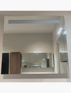 Miroir Lumineux 100 Cm Pour Salle De Bain Avec Bandeau Led