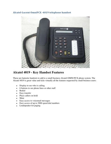 Alcatel Lucent 4019 Telephone