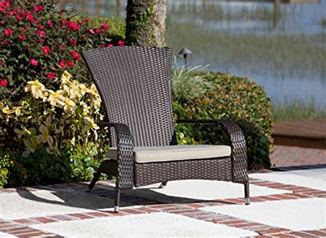 patio sense coconino wicker adirondack chair new ebay