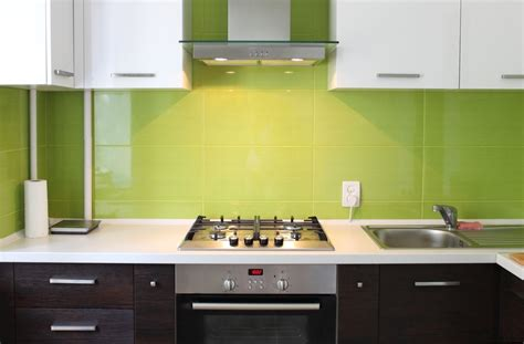 interior home deco cuisine mur vert olive