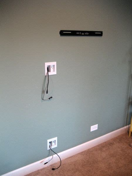 wall mounted tv cables  conduit mounts pertaining