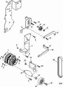 Mercruiser 5 0l Mpi Alpha    Bravo Alternator  U0026 Brackets Parts