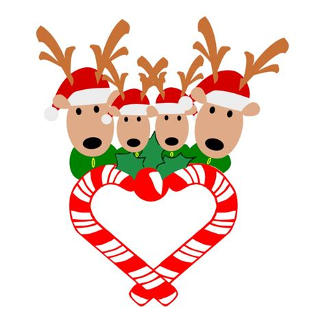 Available in png and svg formats. SVG Reindeer Family Candy Cane Heart Reindeer Family | Etsy