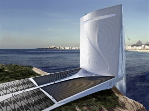 Gigantic Energy-generating Waterfall Skyscraper Could