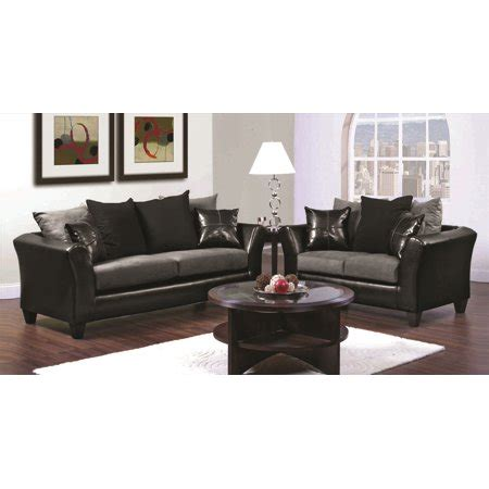 Black Microfiber Sofa And Loveseat by Gray And Black Microfiber Pu Cushion Sofa And Loveseat