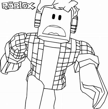 Roblox Pages Coloring Colouring Printable Character