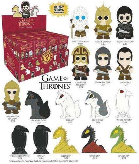 game  thrones mini figuras estilizadas em blind boxes