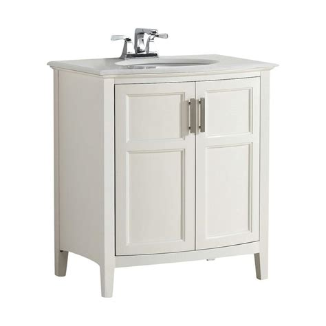 Rounded Bathroom Vanity by Simpli Home Winston Rounded Front 30 In Bath Vanity In
