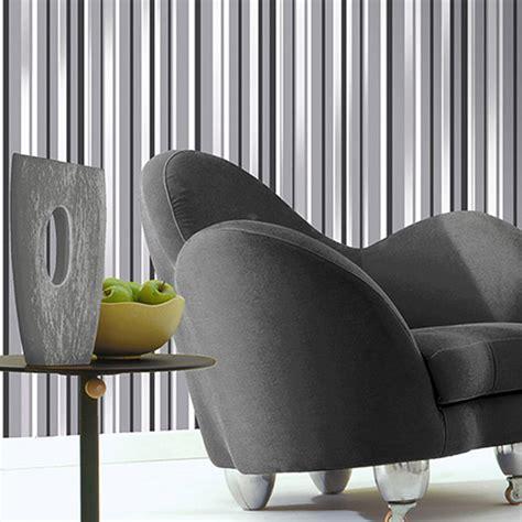coloroll havana stripe wallpaper grey decorating diy