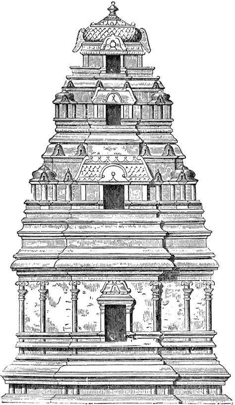 Hindu Temple Free Colouring Pages