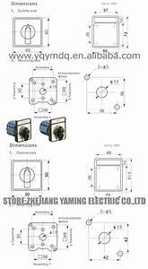 Yaming Cam Chave Seletora Lw26 3 Volt U00edmetro Tens U00e3o Convers U00e3o Contato De Prata 12 Terminais