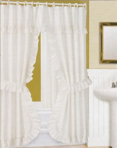 swag fabric shower curtain attached valance vinyl