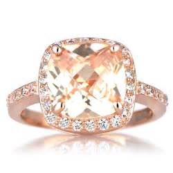 pretty engagement rings gold engagement ring with morganite hd gold cushion cut engagement rings