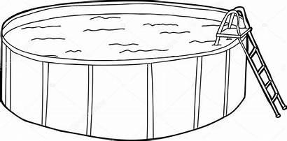 Pool Outline Ground Above Illustration Depositphotos Theblackrhino