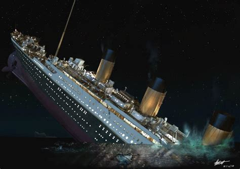 Plunge A Sink by Titanic Sinking Wallpapers Wallpaper Cave