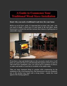 A Guide To Commence Your Traditional Wood Stove Installation
