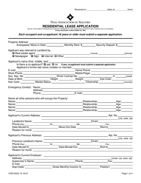 employment application form texas pdf free texas rental application form pdf come with texas