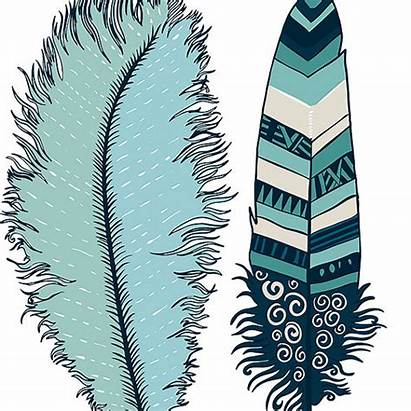 Feather Indian Clipart Clip Border Feathers Peacock
