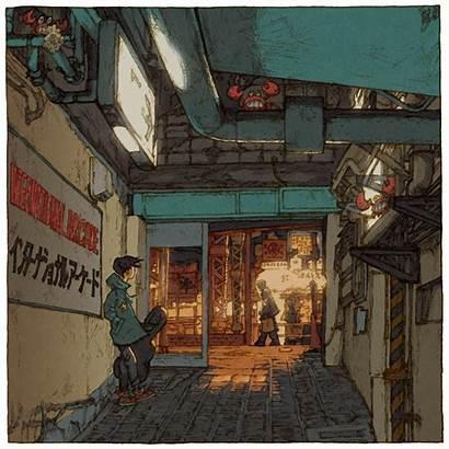 Tokyo Shinji Japanese Illustrator Views Illustrations Charming