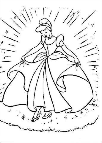 coloriage cendrillon dans sa belle robe coloriages  imprimer gratuits