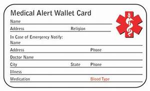 medical alert card template pictures to pin on pinterest With medical alert card template