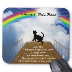 the rainbow bridge poem for cats rainbow bridge memorial poem for cats mouse pad zazzle