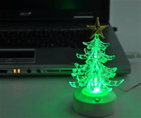 usb color changing led christmas tree speaker