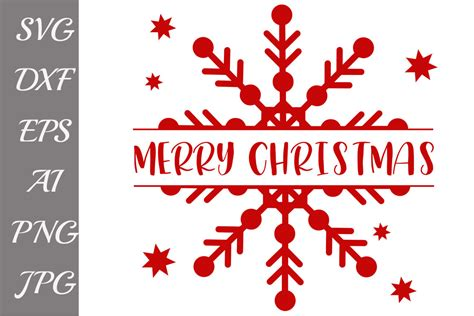 Free download for personal use only! Merry Christmas SVG, SNOWFLAKE SVG, Christmas cut file ...