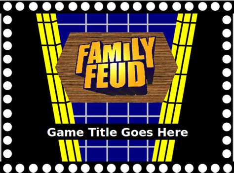 family fortunes powerpoint template  family feud