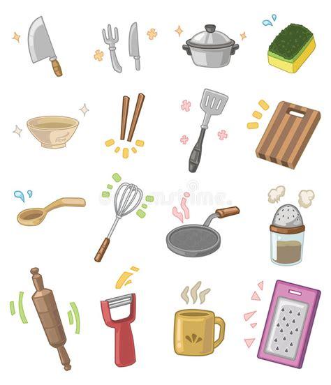 dessin anim cuisine ustensiles de cuisine de dessin animé illustration de
