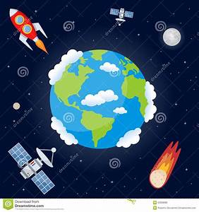 Space Background With Planet Earth Stock Vector - Image ...