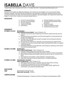 sle resume for bookkeeper clerk unforgettable bookkeeper resume exles to stand out myperfectresume