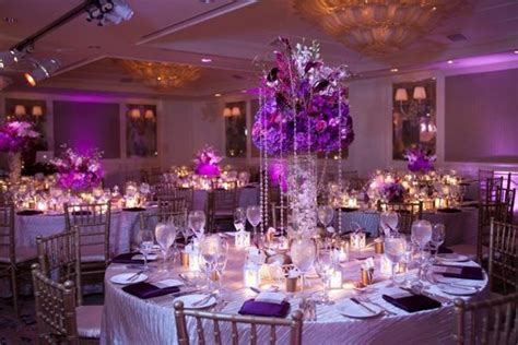 Purple Wedding Table Settings - Castrophotos
