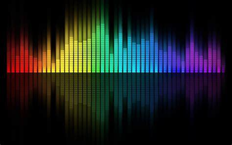 arco iris multicolor de musica ecualizador grafico de