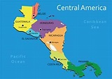Central America Map Vector - Download Free Vector Art ...