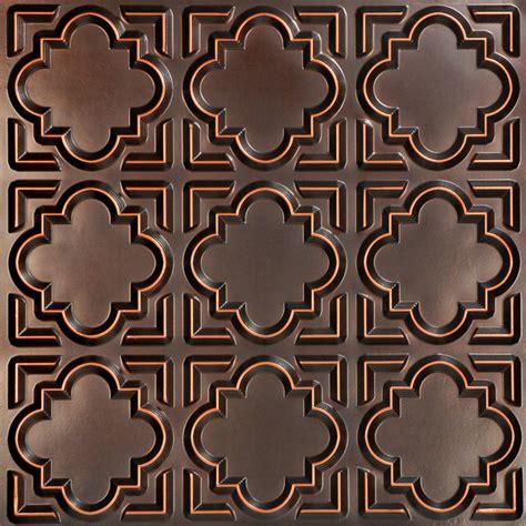 casablanca faux tin ceiling tile  mediterranean ceiling tile  decorative