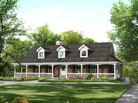 Raised Ranch Style Home With Wrap Around Porch
